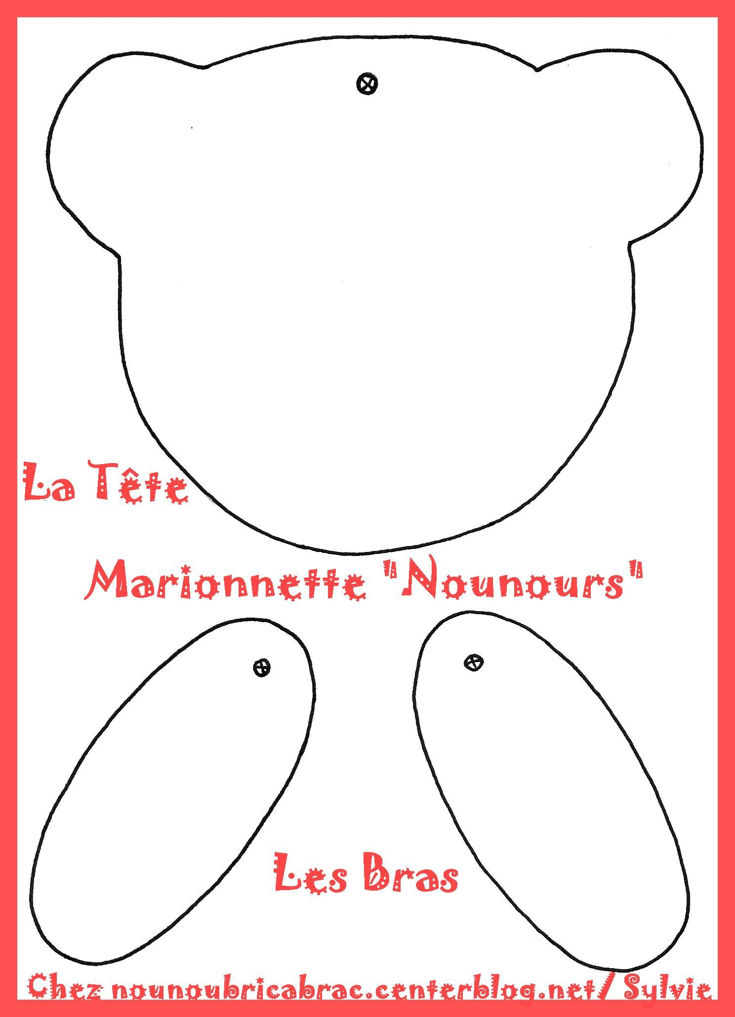 Petit Nounours... la tte et les bras