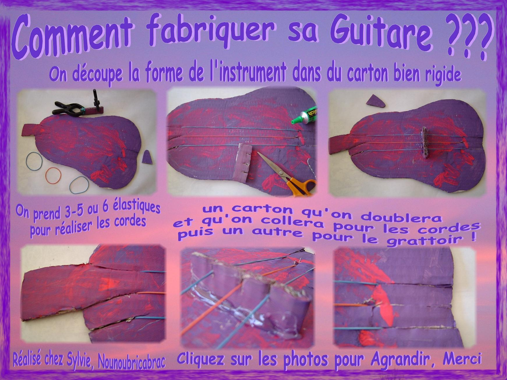 Guitare *1* étapes de fabrication