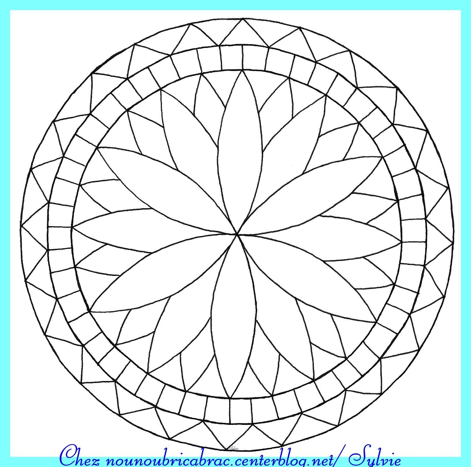 Mandala simple imprimer - Mandala colorier ...