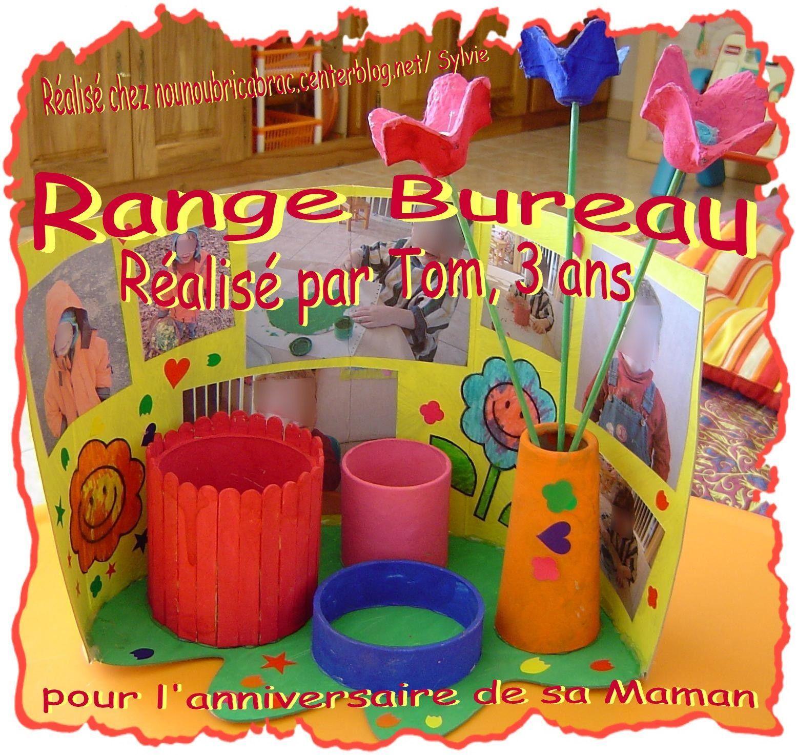Range Bureau... une idée cadeau réalisée par Tom, 3 ans...