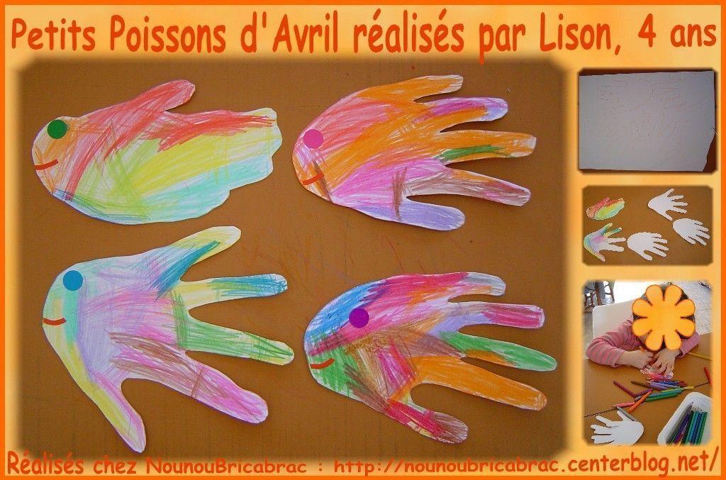 Petits Poissons d'Avril... réalisés par Lison, 4 ans