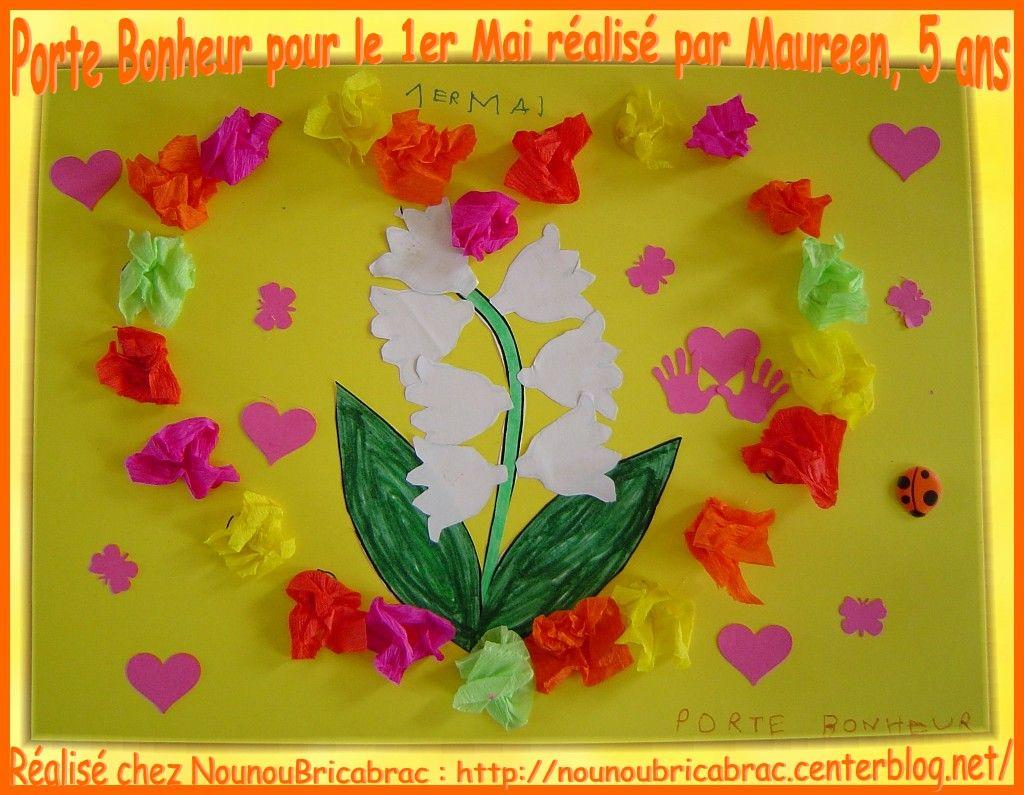 Porte Bonheur pour le 1er Mai, réalisé par Maureen, 5 ans