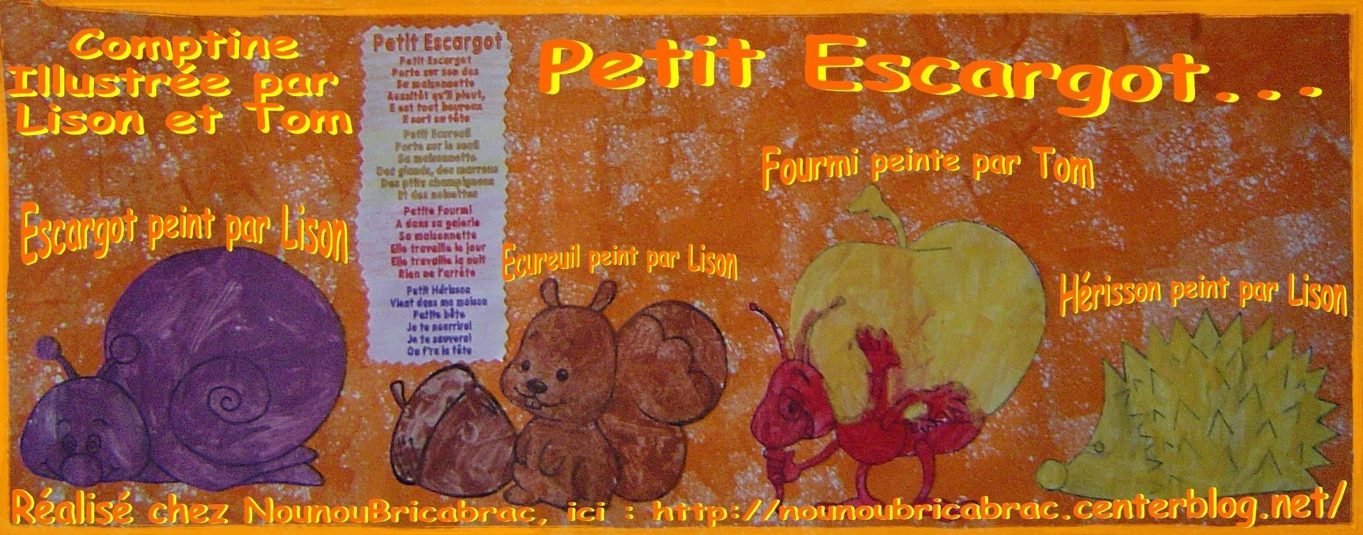 Petit Escargot, version longue... Comptine pour enfants
