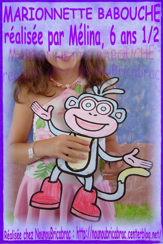 Marionnette Babouche... réalisée par Mélina