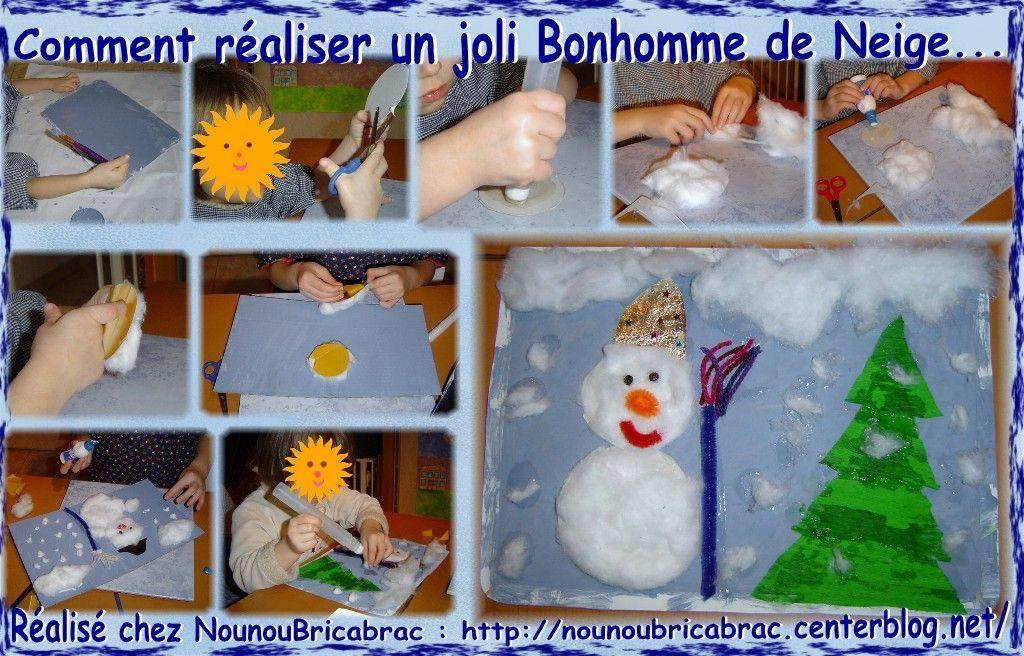 Comment r aliser un joli bonhomme de neige en images - Fabriquer un bonhomme de neige ...