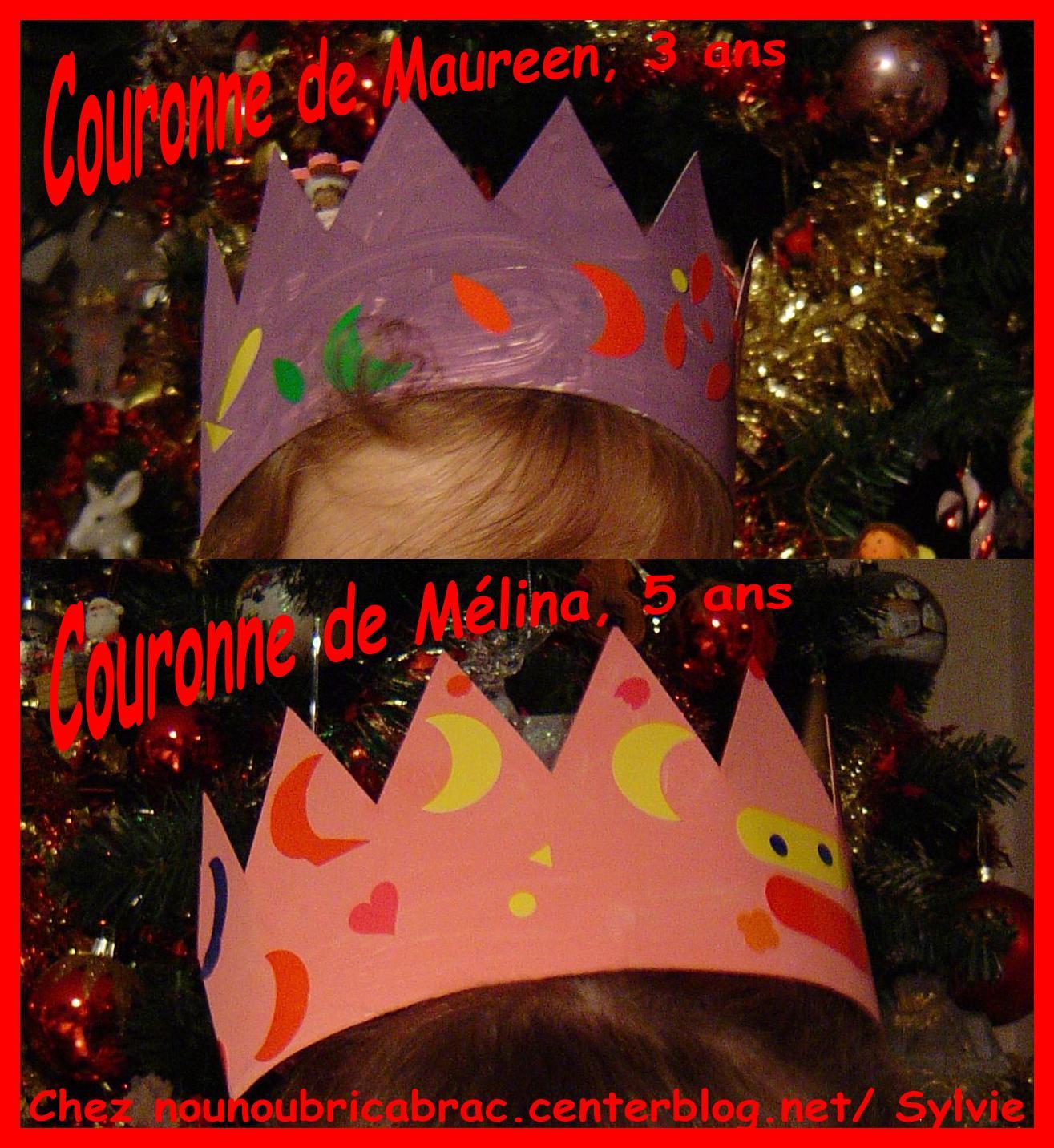 Couronne des rois... pour Maureen et Mélina !