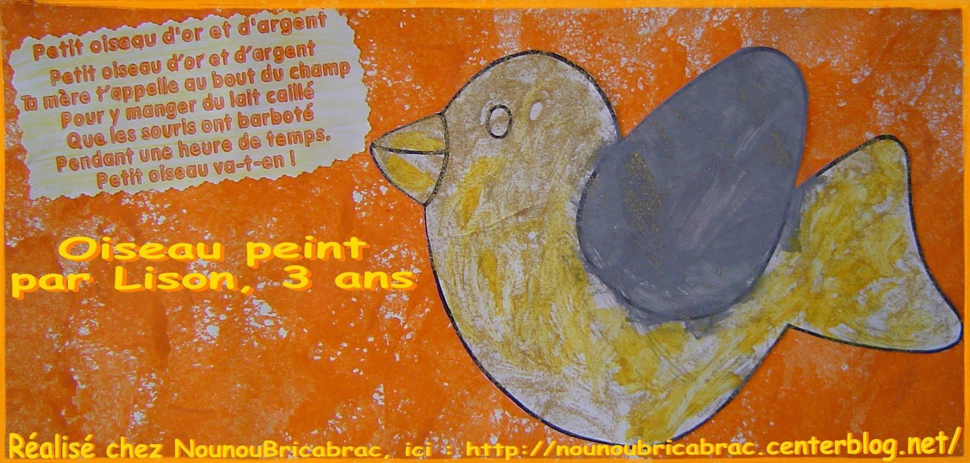 Petit Oiseau d'or et d'argent... Comptine pour enfants