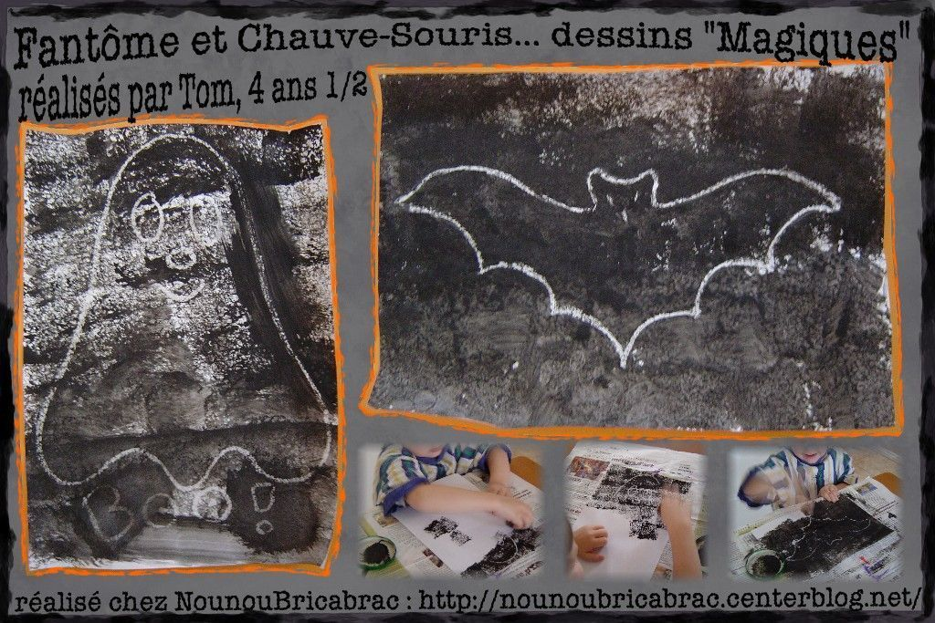 Fantôme et Chauve-Souris, dessins réalisés par Tom