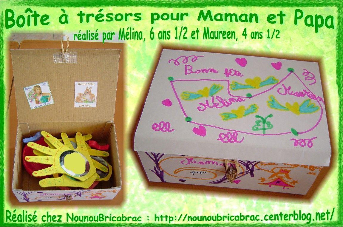 Boîte *Cadeaux*... réalisée par Mélina et Maureen