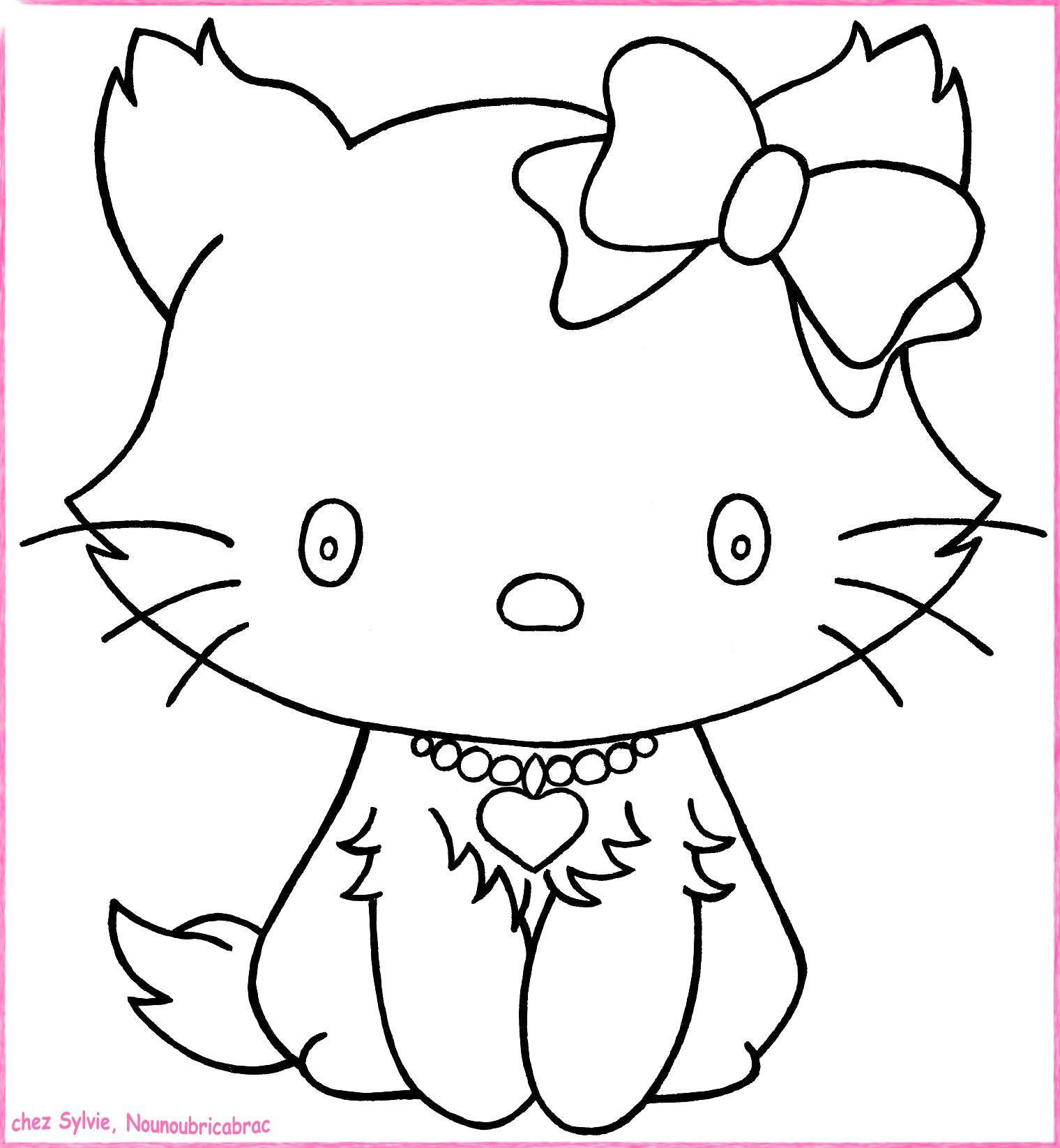 Chats a imprimer - Coloriage chat a imprimer ...