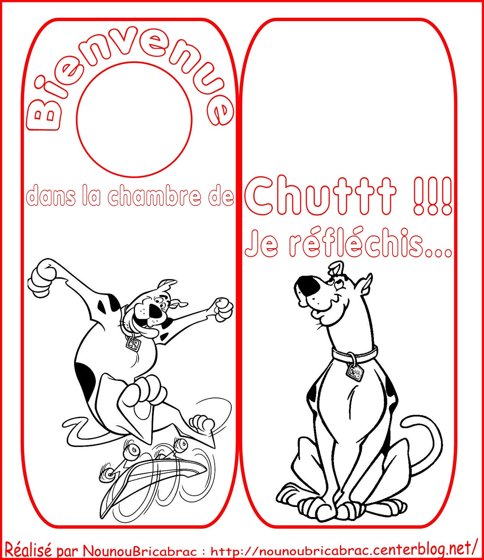 Signet de porte *Scooby doo* pour chambre de ...
