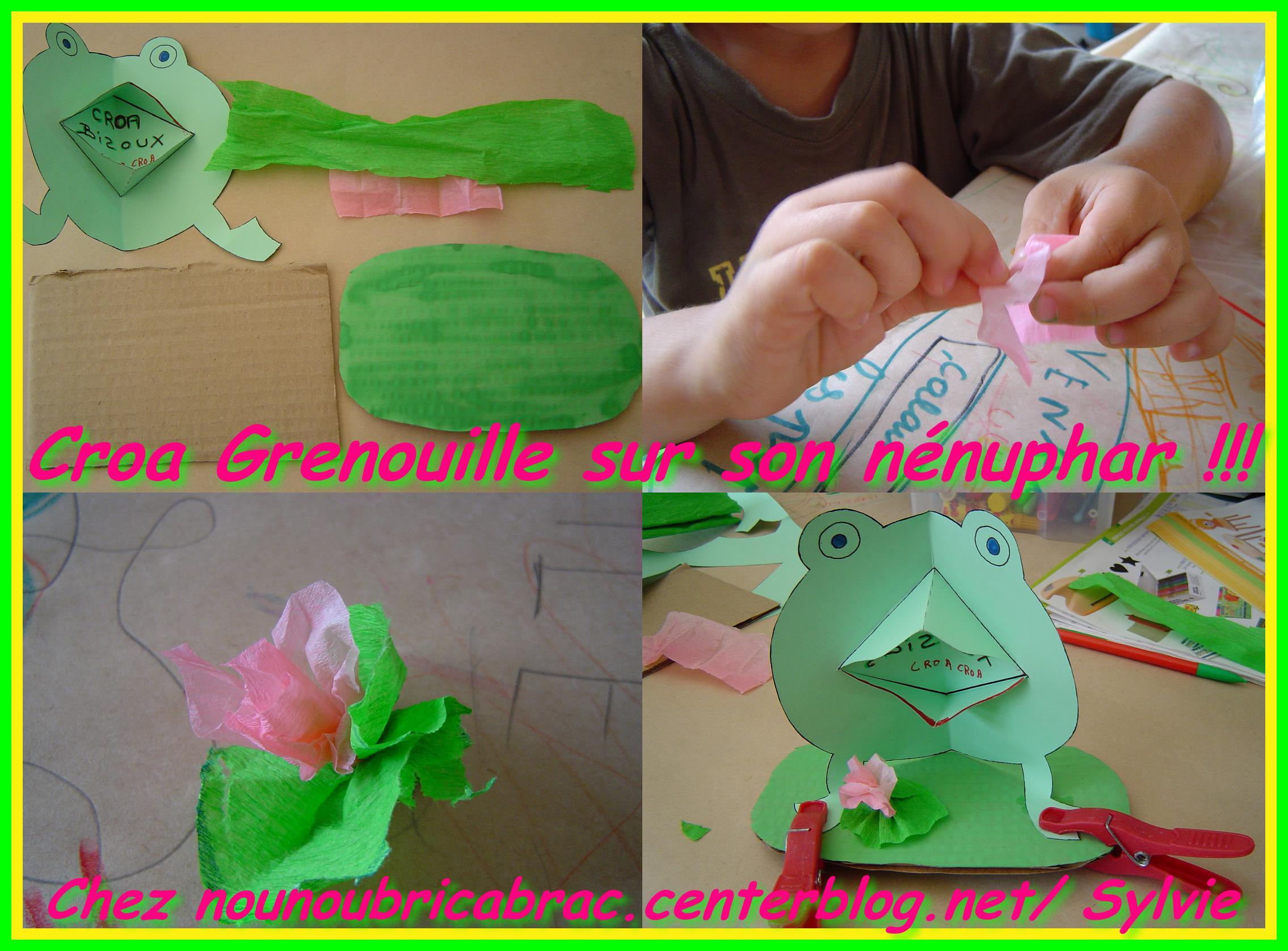 Croa Grenouille en carte... sur son nénuphar !