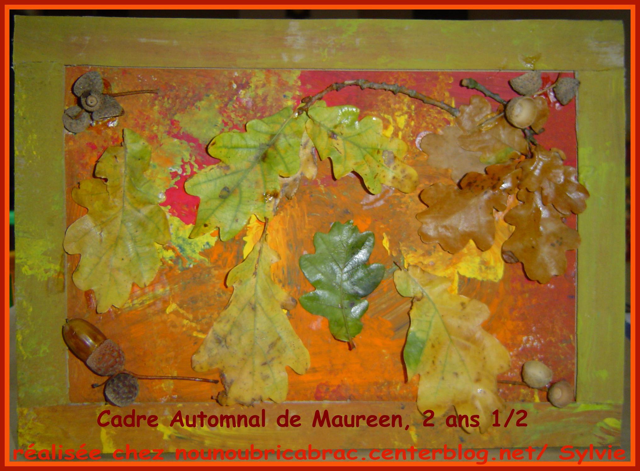 Cadre Automnal de Maureen, 2 ans 1/2