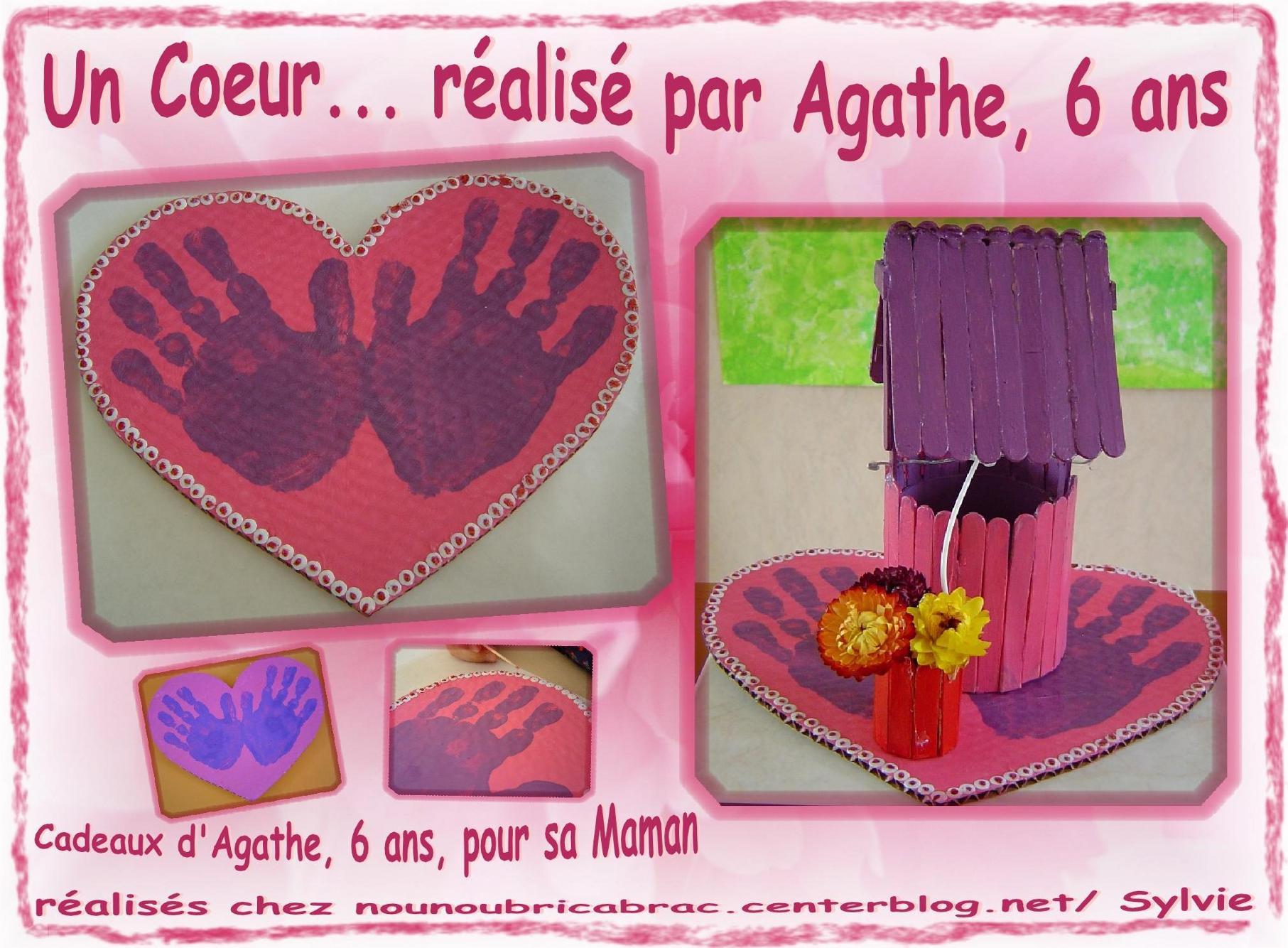 Coeur avec empreintes de main... fait par Agathe