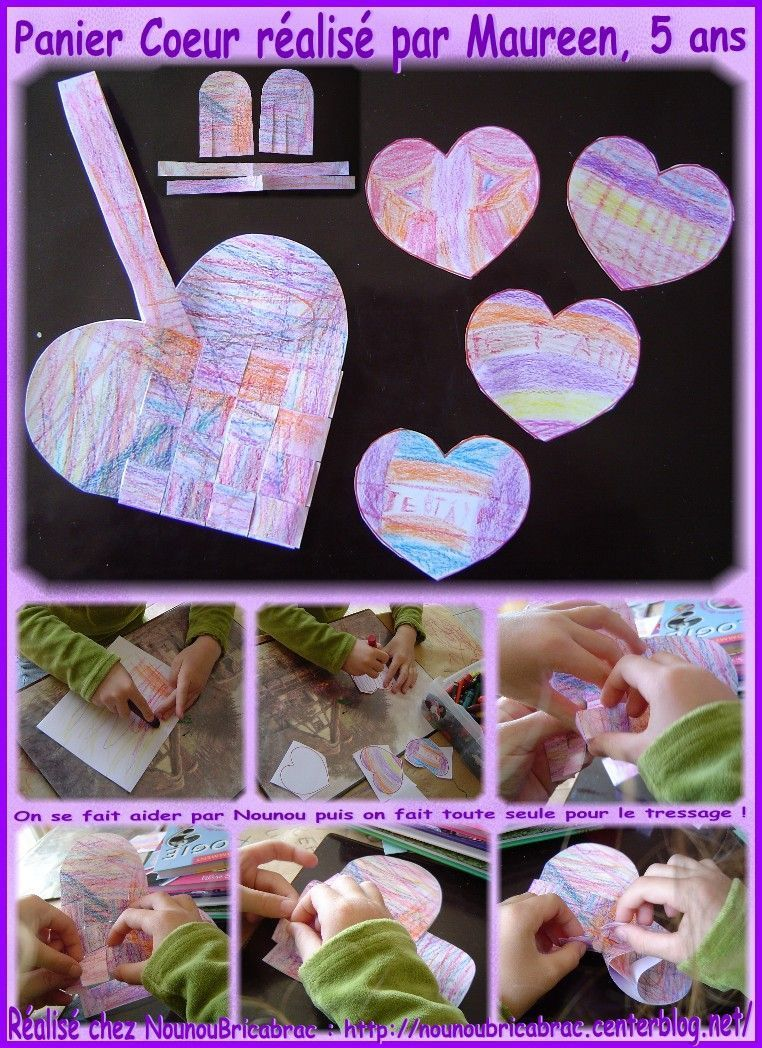 Panier Coeur ralis par Maureen, 5 ans