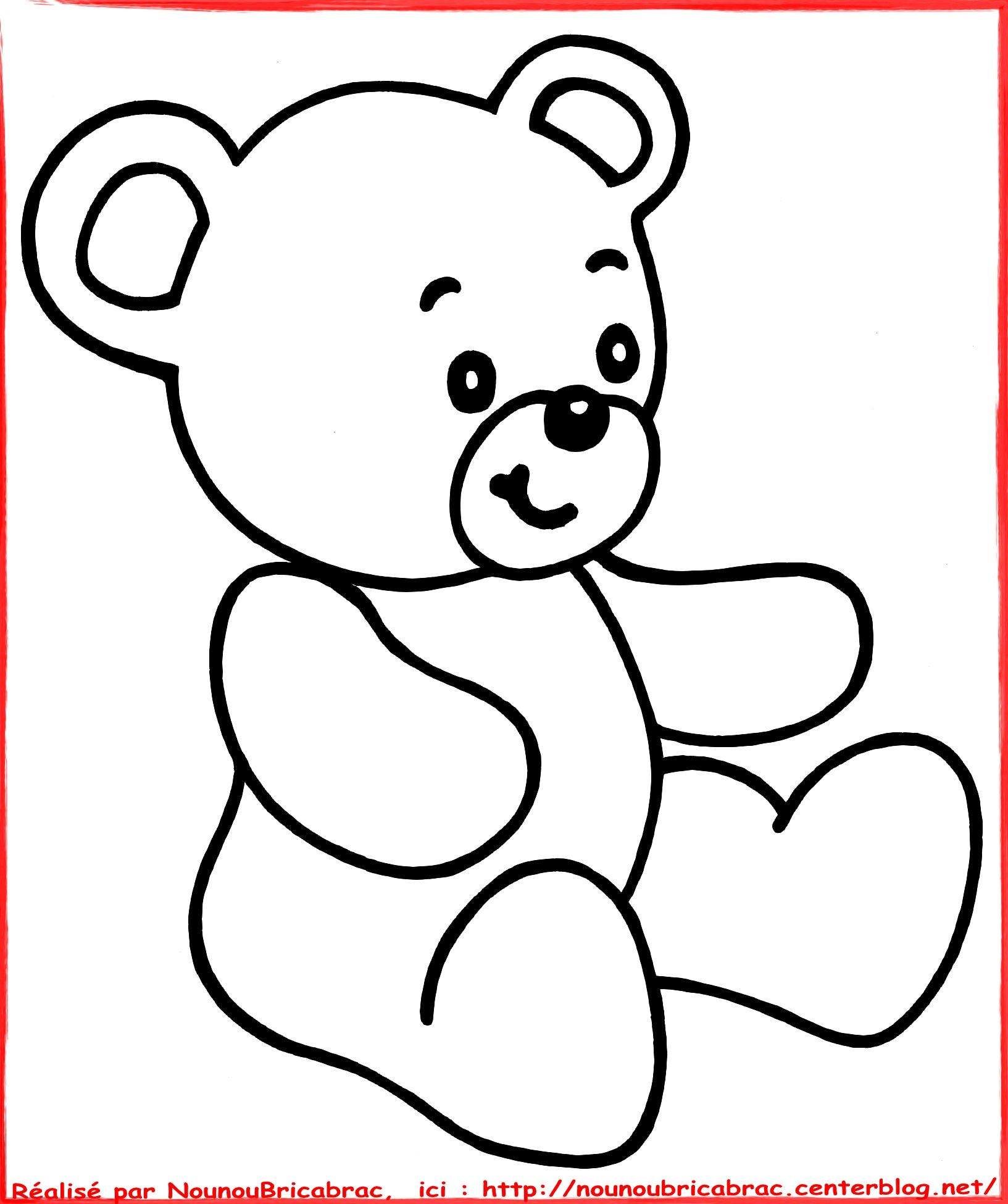 Ourson colorier - Comment dessiner un ours ...