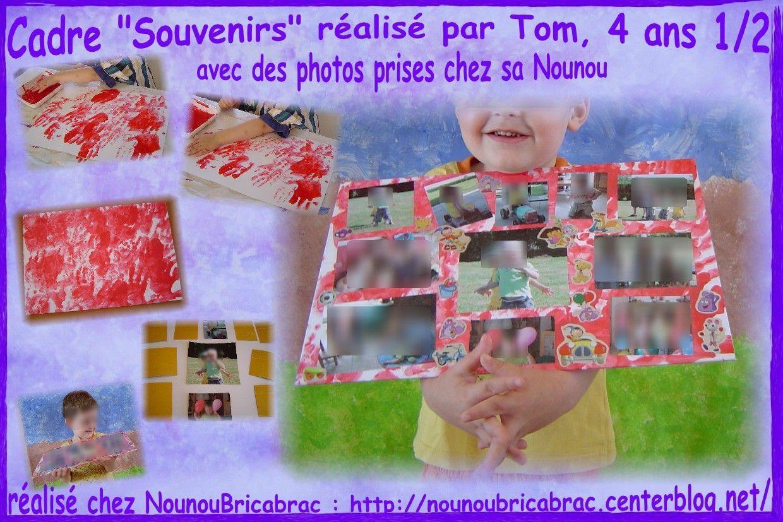 Cadre Souvenirs... réalisé par Tom, 4 ans 1/2