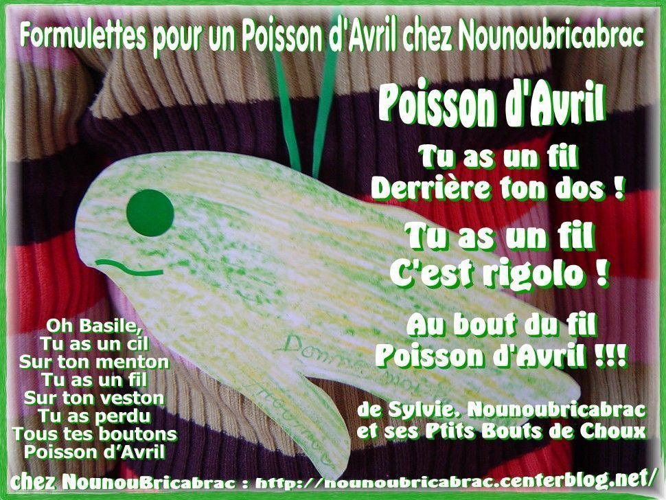 Formulettes pour un Poisson d'Avril chez Nounoubricabrac