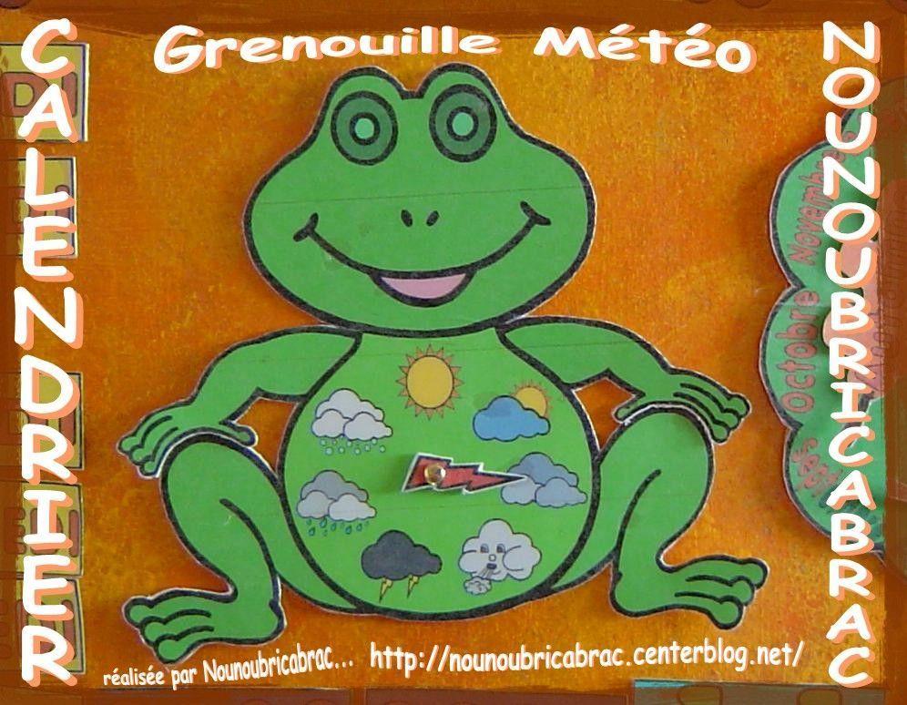 Calendrier pour apprendre ludiquement... la grenouille météo !!!